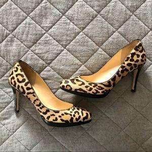Leopard Calf Hair Platform Pump - Ivanka Trump